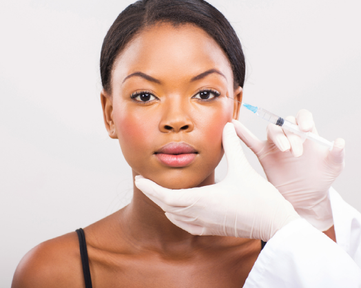 Women getting injections for cosmetic procedures