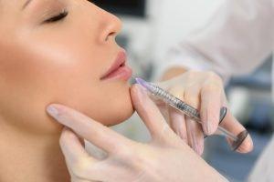 Women receiving lip fillers seoul - cosmetic surgery