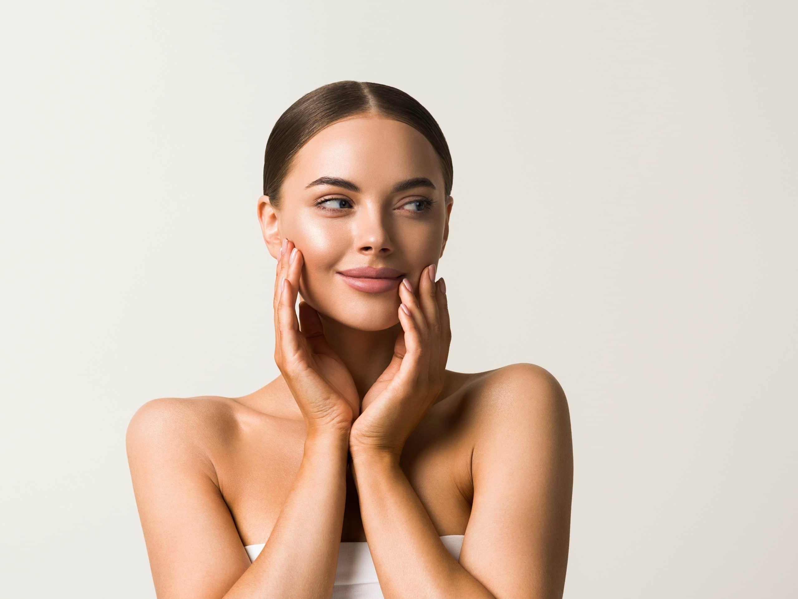 Female Cosmetic Clean Skin Beauty portrait